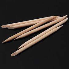 100Pcs Orange Wood Sticks for Nail Art Cuticle Pusher Remover Manicure Tool
