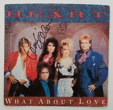 "Ann Wilson Signed Heart What About Love 7"" Vinyl 45 Record Autograph Legend RAD"