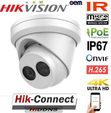 4K UHD HIKVISION POE CAMERA 8MP IR TURRET HOME OUTDOOR SURVEILLANCE UPGRADE OEM