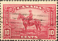 Canada Scott #223 1935 10 Cent RCMP Postage Stamp