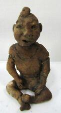VTG Miniature Stoneware Figure Weird Sitting Man Schlitzie The Pinhead Freakshow
