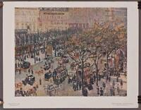 Vintage National Gallery Of Art Print Pissarro Boulevard Des Italiens