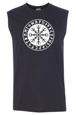 HELM OF AWE Sleeveless T-shirt / Tank Top - S to 3XL - Viking Valhalla Thor Odin