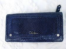 Cole Haan Blue Leather Bifold Wallet