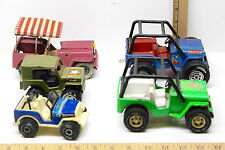5 Vintage 1970's - 1980's Tonka Buddy L Jeeps US Army+Ranger+Golf Pressed Steel