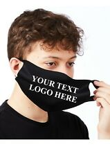 PERSONALISED Adult Face Mask, Protective Cover, Washable & Reusable - 17 COLOURS