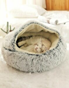 HOOPET Grey Pet Igloo House New Style For Small Dogs and For Cats FREE SHIPPING