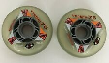 KRYPTONICS Vectra 76mm 78A Inline Skates Rollerblade Replacement Wheels Set of 2