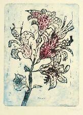 HEINZ DRAGON - Graceful Filiale del fiore - Acquaforte a colori 1988