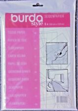 BURDA Dressmaking TISSUE & TRACING Paper 5 Sheets Per Pack  Sizes 150CM x 110CM