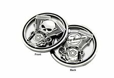 Harley Davidson® Engine and Willie G Skull Cutout Challenge Coin