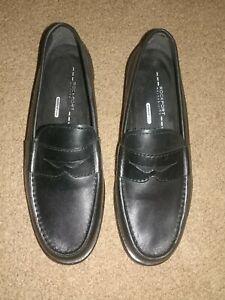 Rockport: Walkability AdiPrene by Adidas Black Leather Loafers: Men's Size 8M