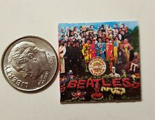 "Dollhouse Miniature Record Album 1"" 1/12 scale Barbie Beatles Rock Pepper"
