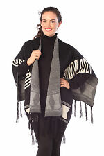 Ponchos None Geometric Jumpers & Cardigans for Women