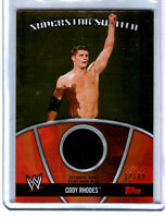 WWE Cody Rhodes 2010 Topps GOLD Superstar Swatch Relic Card SN 17 of 99