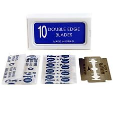 100 Crystal Double Edge Stainless Safety Razor Blades - AKA Israeli Personnas