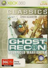 XBOX 360 TOM CLANCY'S GHOST RECON ADVANCED WARFIGHTER CLASSICS GAME