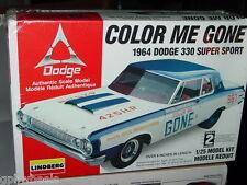 LINDBERG 1964 64 DODGE 330 SUPER SPORT COLOR ME GONE MODEL 1/25 Scale, MIP