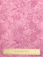 PURPLE BATIK FABRIC - Large Floral - Timeless Treasures Quilting Cotton YARD