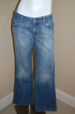 "7 For All Mankind ""A"" Pocket 5 Pocket Styling Faded Jeans~Size 28~Inseam 30.5"""