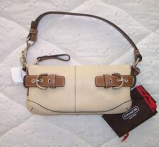 NWT COACH East West Beige Pebbled Leather Demi Convertible Shoulder Bag
