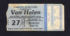 1980 Van Halen Concert Ticket Stub San Antonio Texas Woman And Children First