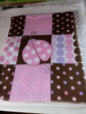 BUTTERFLY AND BUGS AND DOTS INFANTS FLEECE BLANKET HANDMADE