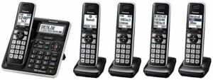 Panasonic KX-TG985 SK DECT 6.0 Bluetooth 5-Handset Phone HD Link2Cell Cordless T