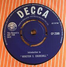 "Winston Churchill-INTRODUCTION à ""Winston S. Churchill"" UK 1964 1-SIDED 7"""