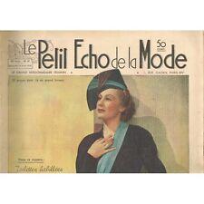 Le PETIT ÉCHO de la MODE Mariage Ensemble Cérémonie Robe de Mariée N°17 avr 1938