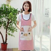Cute Pig Kitchen Apron Women/Men Antifouling Accessories With Pockets Commercial