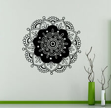 Mandala Wall Vinyl Decal India Henna Flower Vinyl Sticker Abstract Home Decor 2