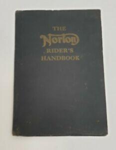The Norton Rider's Handbook Vintage Motorcycle Book