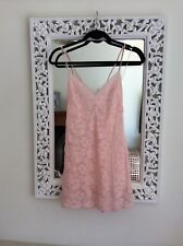 Victoria's Secret Pink Floral Lace Slip Negligee, Size UK M 10-12 New