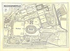 G2722 Olympia 1936 Berlin map Reichssportfeld  - size: 29 x 21 cm,