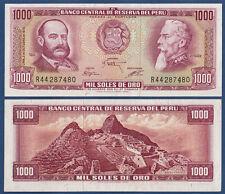 PERU 1000 Soles de Oro 1975  UNC  P.111