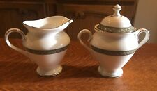 WATERFORD CHINA LAUREL PATTERN  CREAMER PITCHER AND  SUGAR BOWL AND LID