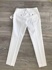Michael Kors ⭐️ Classic Cotton Stretch White Trousers Size UK 8