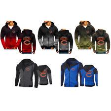 Chicago Bears Hoodie Long sleeves Full Zip Sweatshirt Jacket Casual Coat