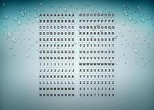 Set 280 x sticker adesivo adesivi alfabeto numero scrapbooking lettere r13