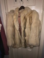 Hooded White Fox Fur Coat