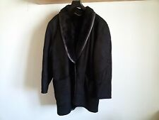 Vintage GIACCONE DONNA SHEARLING Vera Pelle SCAMOSCIATO tg.44 Made ITALY '80s