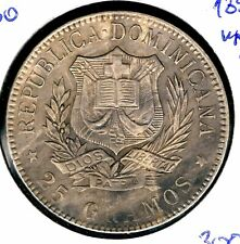 Dominican Republic - 1 peso 1897 KM# 16, High Grade