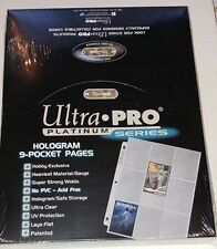 Ultra Pro - Lot of 100 Pages of 9 Pockets Binder Sheets Platinum Series Box