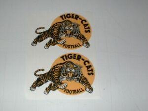 CFL HAMILTON TIGER CATS MINI SIZE FOOTBALL HELMET DECALS