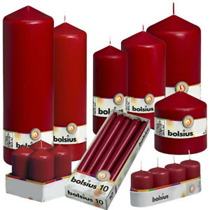 Wine Red Candles for Floristry | Home Décor | Various Sizes