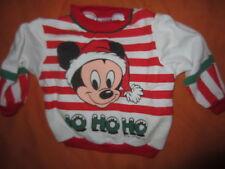 1984 WALT DISNEY BABIES CHRISTMAS SANTA BABY MICKEY SWEATSHIRT INFANT