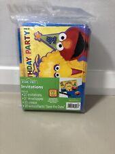Sesame Street 1st Birthday Invitations Vintage Brand New Sealed