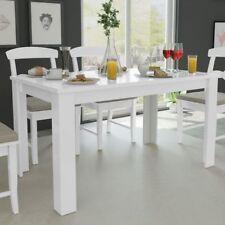 Tavolo da Pranzo Cucina in legno Design Moderno 140x80x75 cm Bianco