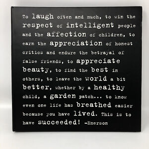 Photo Book Album Black White Emerson Quote Spiral Laugh Lived Succeed